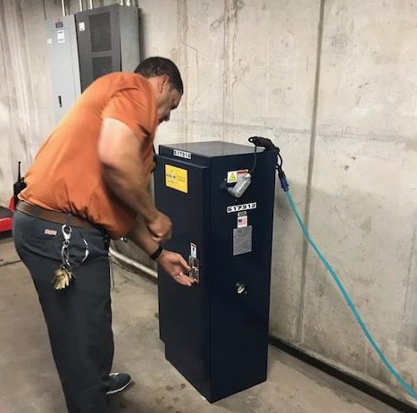DVS45-S being installed at Orange County Convention Center